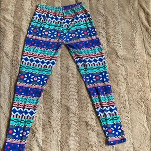 Pants - Winter print leggings.